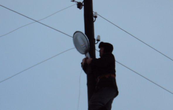 сельсовета заменили лампы