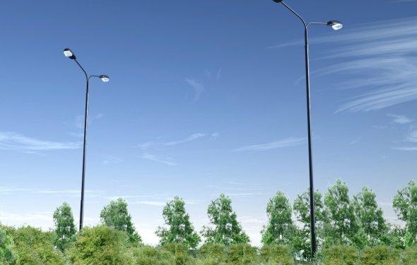 металлические опоры освещения