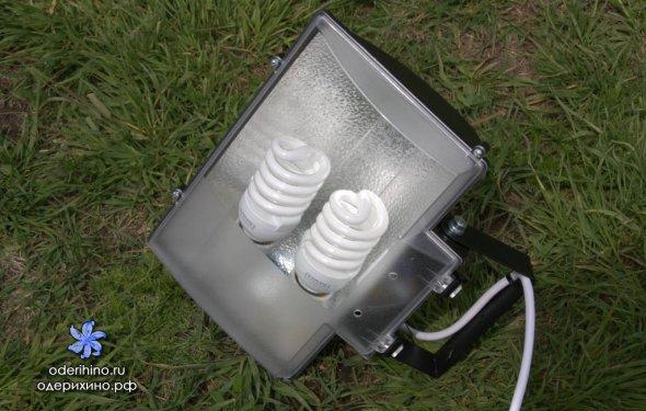 Вкручиваем две лампы по 24 Вт