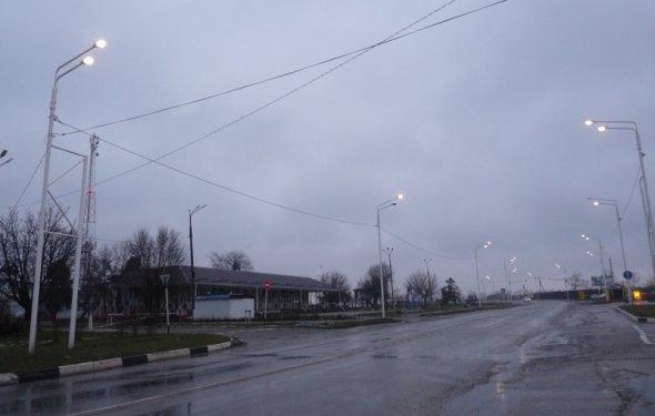 линий уличного освещения и