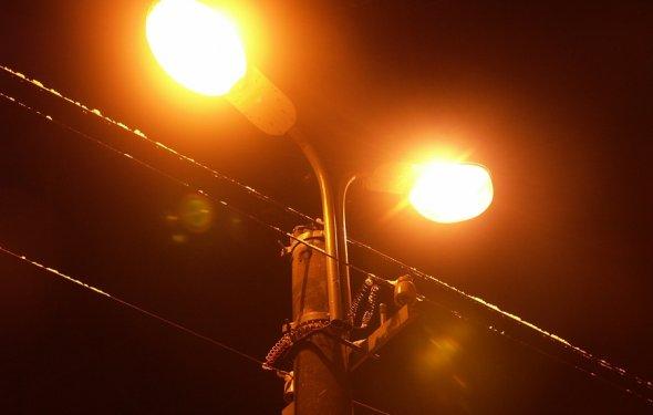 Уличное освещение в центре